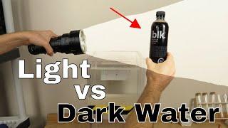 The World's Blackest Water vs The World's Brightest Flashlight (32,000 Lumens)-Which Will Win?