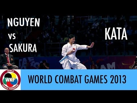 World Combat Games 2013. NGUYEN vs SAKURA. Karate Women's Kata. Bronze Medal
