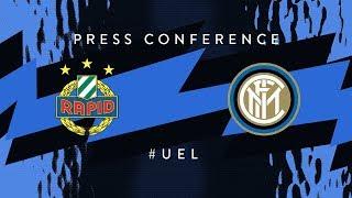 RAPID WIEN vs INTER   Pre-Match Press Conference LIVE    UEFA Europa League 2018/19