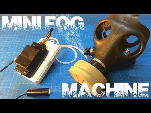 E-Cig Mini Fog Machine w/ Hellboy Ectoplasmic Man Mask / Jack-O-Lantern