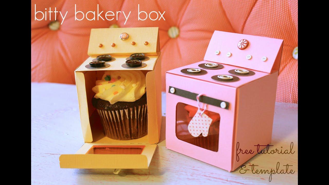 Bitty Bakery Cupcake Box Free Template Youtube