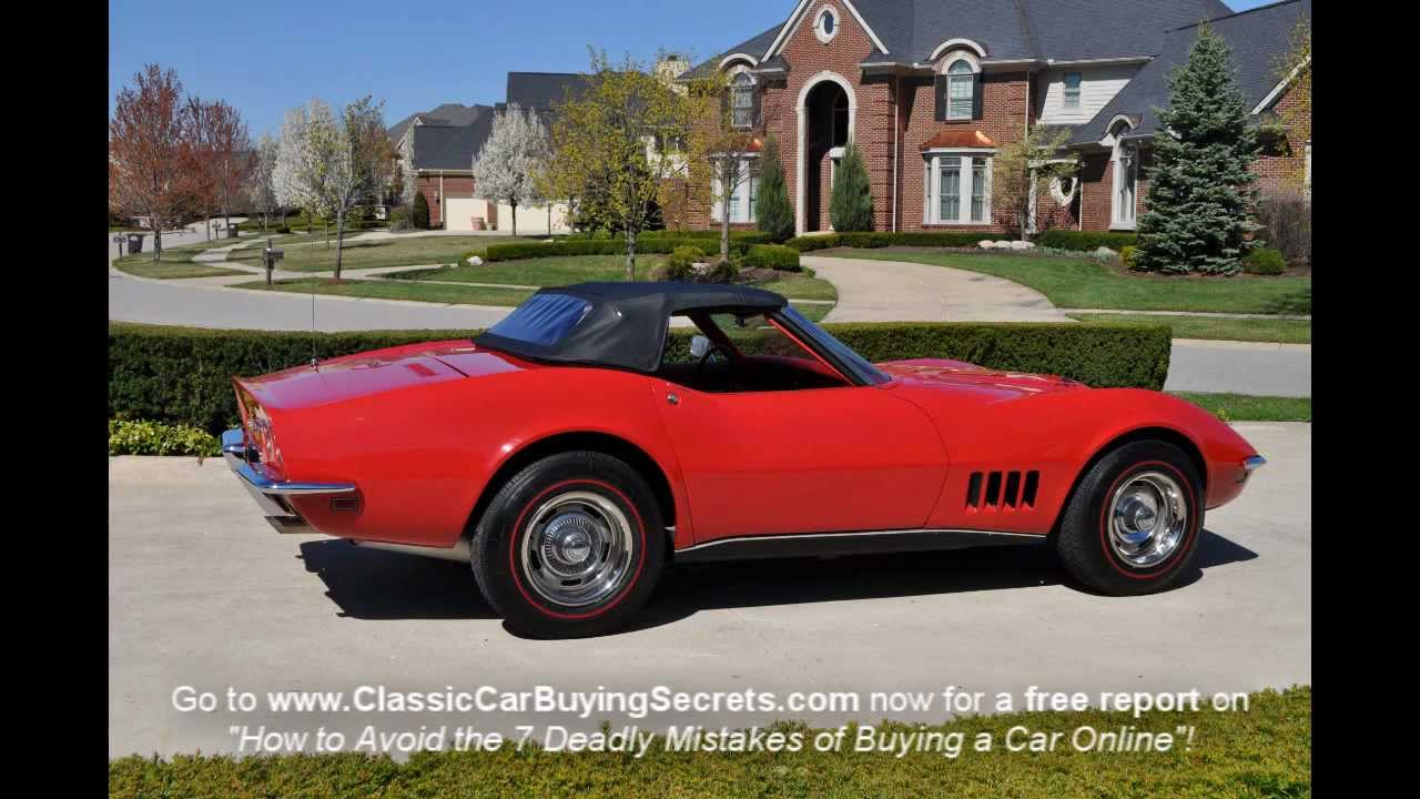 1968 corvette 427 convertible classic muscle car for sale in mi. Cars Review. Best American Auto & Cars Review