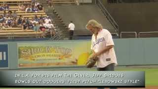 Jeff Bridges Bowls the First Pitch Lebowski-Style