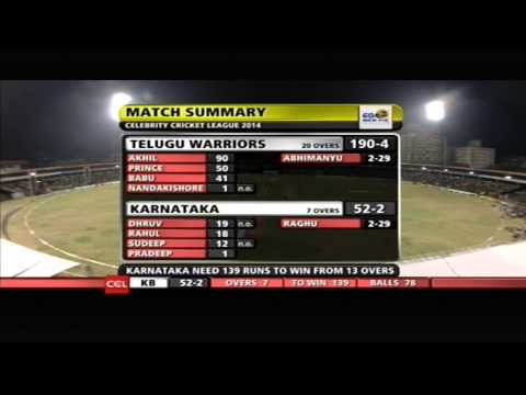 Telugu Warriors Vs Karnataka Bulldozers | 2nd Inn | Over 5-10 | Hyderabad