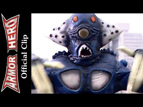 Fights with the Sea Monster - Armor Hero Official English Clip [HD 公式] - 04