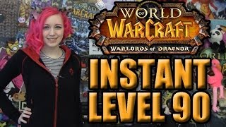 INSTANT LEVEL 90 BOOST (Warlords Of Draenor World Of