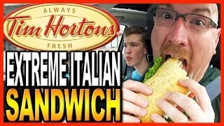 Tim Hortons ★ Extreme Italian Sandwich ★ With Co-host