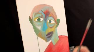 How To Paint Like PICASSO Abstract ART Acrylic Painting