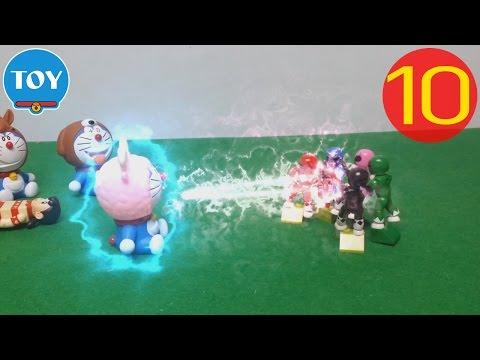 Doremon siêu nhân tí hon tập 10 - đồ chơi doremon chế hài - Mon đầu dê mạnh quá