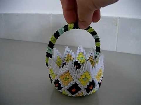 3D Origami Flower Basket -I8FrQiEV0YY