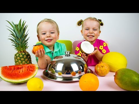Learn Names of Fruits with Alex and Gaby