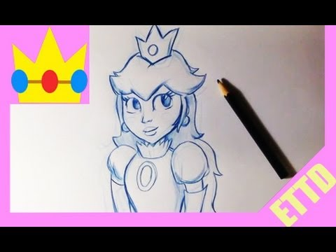 How to Draw Princess Peach - Easy Things To Draw