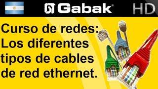 Diferentes tipos de cables ethernet