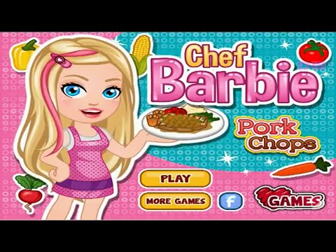 Barbie Cooking Games For Girls to Play Now \ Pork Chops Kitchen Cake Pizza Cooking Girls Games DW 16