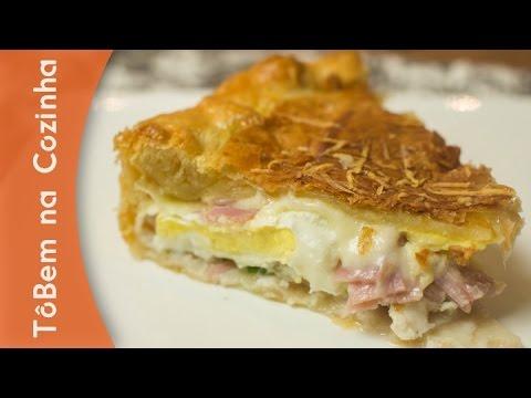 TORTA FOLHADA de presunto, queijo e ovos - Receita de torta folhada (Episódio #81)