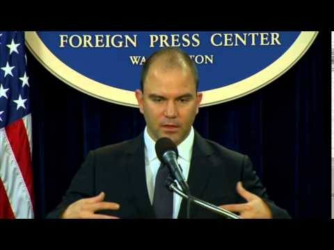 Deputy National Security Advisor Rhodes Previews President Obama's Trip to Asia