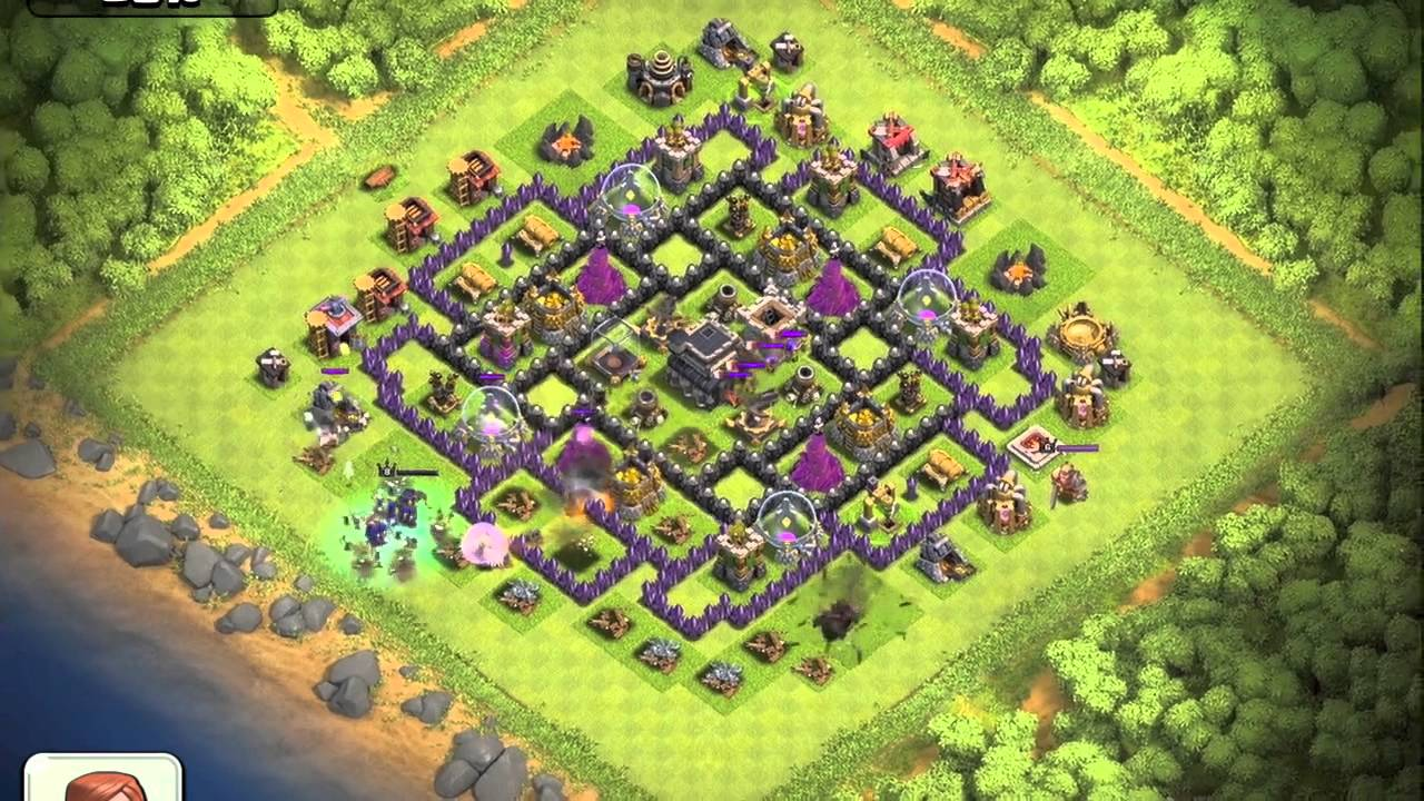 Testing out jennifuh s th9 trophy layout defense replay youtube