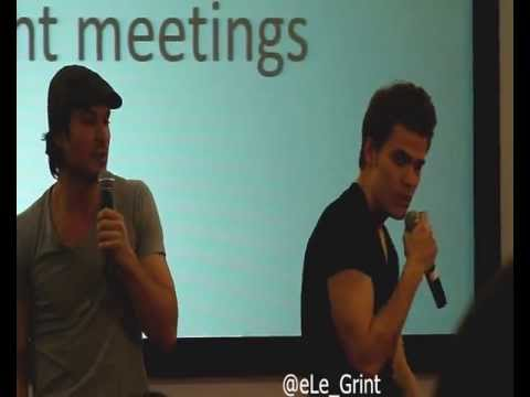 Panel Ian Somerhalder y Paul Wesley 3. BloodyNightCon 2013