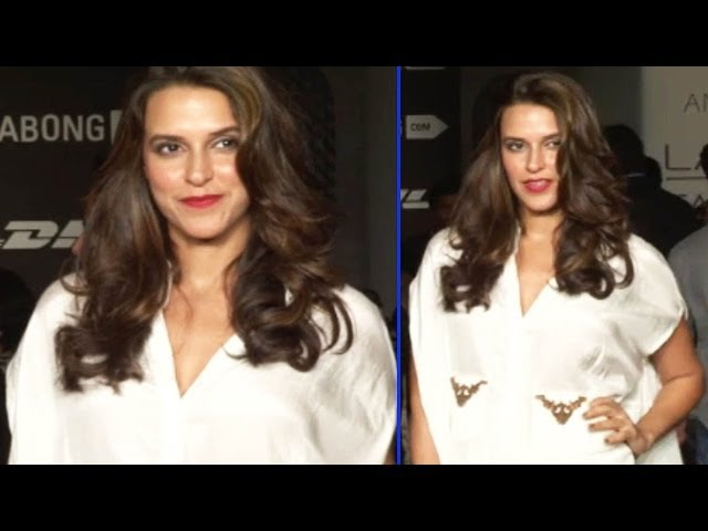 LFW Day 4 | Neha Dhupia Looking Hot In White Dress