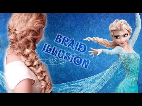 Frozen's Elsa hair tutorial ❤ Quick and easy HOLIDAY braid illusion