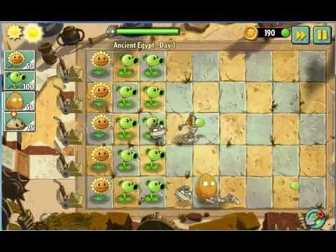 Plant and zombies 2 ancient egypt day 1 - Hoa quả nổi giận 2 day 1