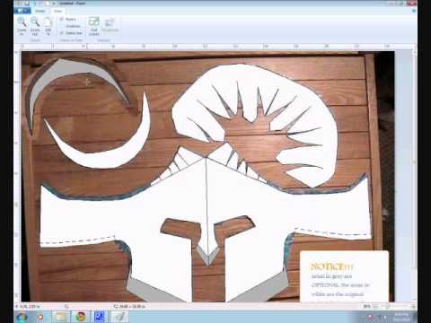 Army Soldier Hat Stencil Cut Out Craft