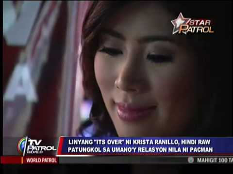 What's 'over' for Krista Ranillo?