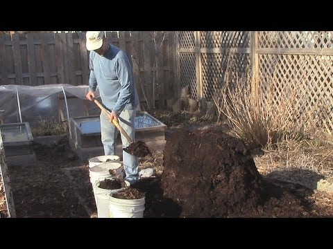 Turning The Fall/Winter Compost & the Worms are Alright!