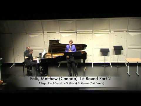 Falk, Matthew (Canada) 1st Round Part 2