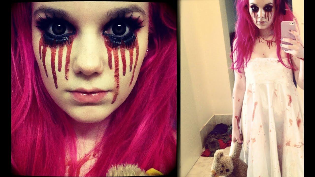 CREEPY LITTLE GIRL - Halloween Makeup Tutorial - YouTube