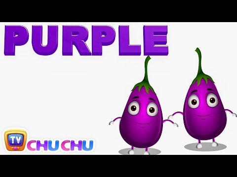 Color Songs - The PURPLE Song | Learn Colours | Preschool Colors Nursery Rhymes | ChuChu TV