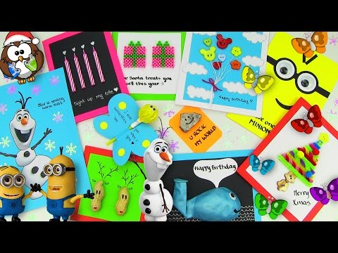 DIY Gifts! 10 Easy DIY Card Ideas (DIY Cards with Christmas Gifts, Birthday & Valentine's Day)