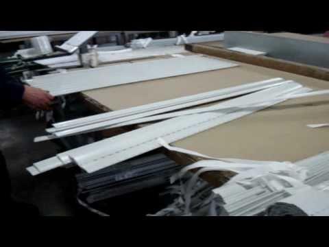 Produzione avvolgibili Fasi di Costruzione e Montaggio di Mini Tapparella