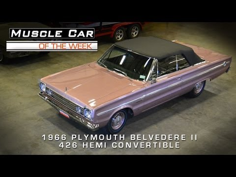 Muscle Car Of The Week Video #36: 1966 Plymouth Belvedere II 426 Hemi