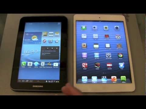 Apple iPad Mini vs Samsung Galaxy Tab 2 7.0