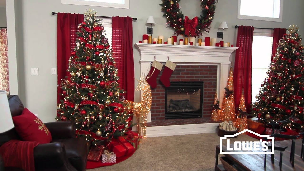 Lowes christmas decorations home interior design for Decorating your house for christmas