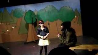 Sara (Snow White) Eats The Poisoned Apple