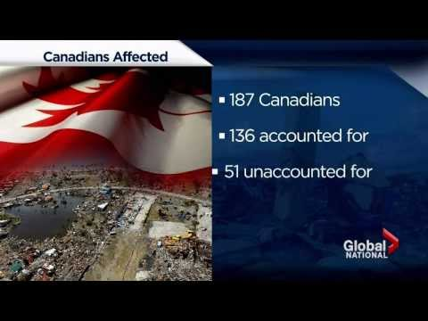 Canadian relief operation in Philippines help typhoon victims