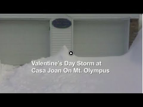 Happy Valentine's Day Storm At Casa Joan on Mt. Olympus JOANBARS