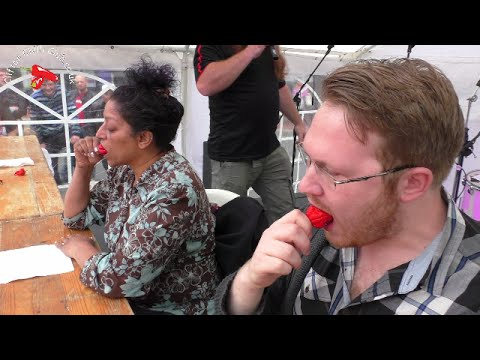 Chilli Eating Contest - Reading Chili Festival 2016