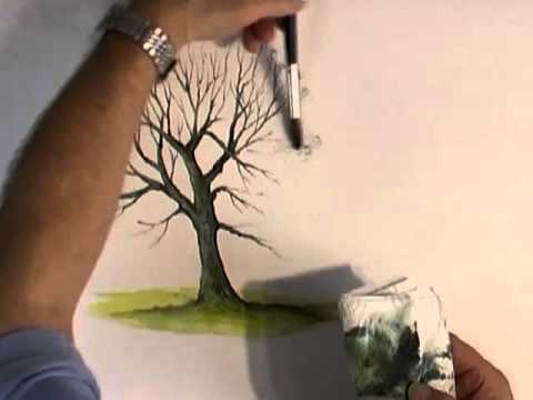 Watercolour Trees - How To Paint A Tree In Watercolour