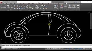 Autocad dibujo de un coche