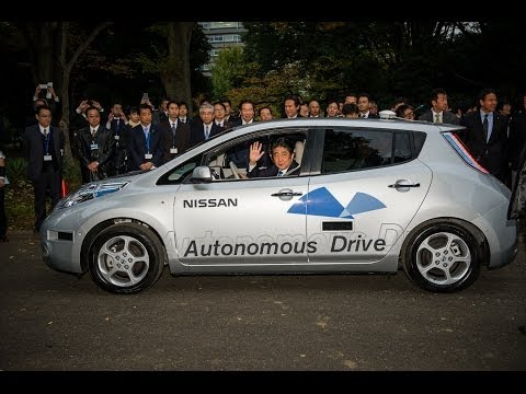Japan's Prime Minister Abe Hits Tokyo Streets in a Nissan's Self-Driving Car