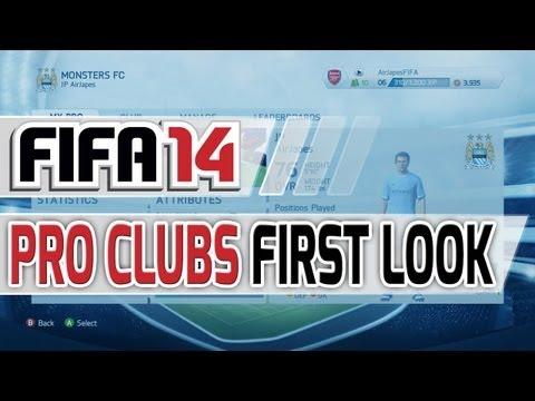 FIFA 14: Детали Pro Clubs