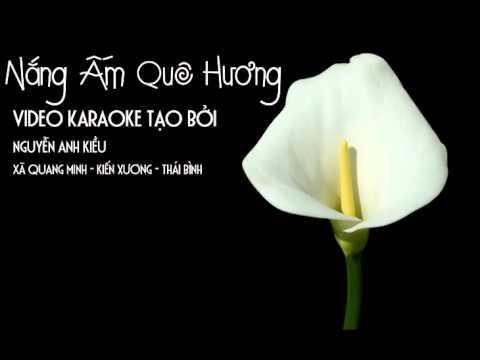 nang am que huong karaoke beat full chuan