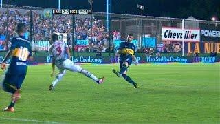 Ocasión de Gigliotti. Arsenal 0 - Boca 0. Fecha 16. Torneo Primera División 2014. FPT