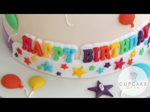 Katy Sue HAPPY BIRTHDAY Stars Banner silicone icing mould
