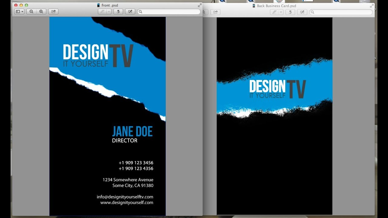 Design Your Own Business Card from Scratch