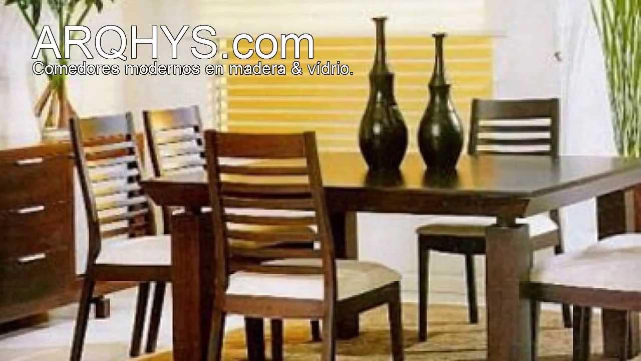 Comedores modernos de madera y vidrio youtube for Disenos de comedores de madera modernos