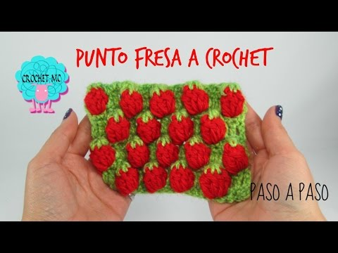 Tutorial punto fresas a crochet